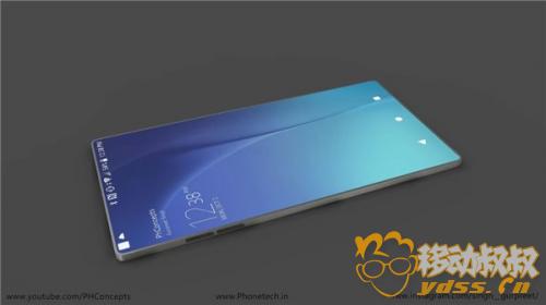外媒曝光索尼Xperia 10概念圖 采用真正的100%屏占比屏幕
